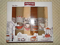 Набор кухонных полотенец Чашечка Mercan rose 6шт: 50х70 Tурция