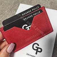 Красный чехол для пластиковых карт Grande Pelle