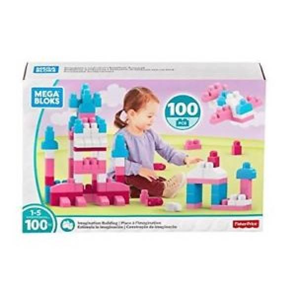 Конструктор Mega Bloks 100шт розовый