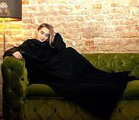 Плед с рукавами флисовый (черный), фото 1