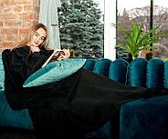 Плед с рукавами флисовый (черный), фото 2