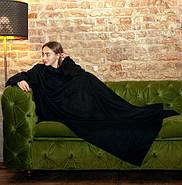 Плед с рукавами флисовый (черный), фото 3