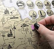 Скретч карта Украины My Map Ukraine edition (украинский язык) в тубусе, фото 7