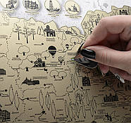 Скретч карта Украины My Map Ukraine edition (украинский язык) в тубусе, фото 8
