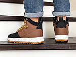 Мужские кроссовки Nike Lunar Force 1 Duckboot (коричнево-черные), фото 2