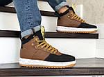 Мужские кроссовки Nike Lunar Force 1 Duckboot (коричнево-черные), фото 4