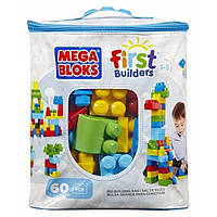 Mega Bloks First Builders Первые строители 60 деталей Big Building Bag 60-Piece DCH55