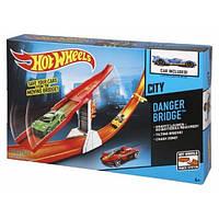 Hot Wheels  трек Хот Вилс Город City Danger Bridge Trackset Опасный мост