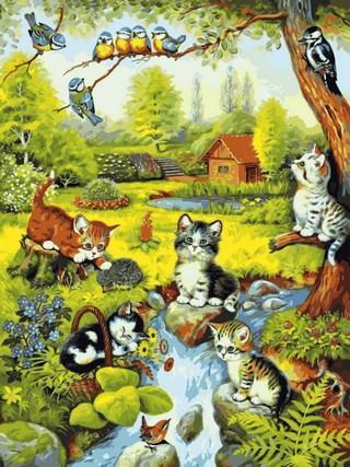 Картина по номерам 40х50см Babylon Turbo Игривые котята