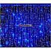 Гирлянда водопад 240 LED 5mm 2м/2м синяя на прозрачном проводе, фото 2