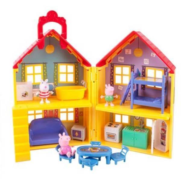 Peppa Pig игровой домик свинки Пеппы США Deluxe House Play Set with 3 Figures
