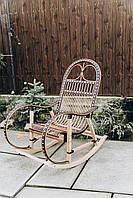 Кресло качалка с натурального ротанга | Кресло-качалка для сада | кресло качалка деревянная