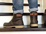 Мужские зимние ботинки Timberland (темно-коричневые), фото 2
