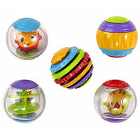 Bright Starts Сенсорные шарики Roll Shake and Spin Activity Balls, фото 1