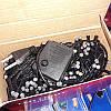 Гирлянда матовая 300 LED 26м на черном проводе разноцветная 5mm, фото 4