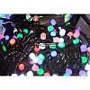 Гирлянда 200 LED 16м разноцветная на черном проводе 8mm, фото 2