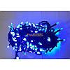 Гирлянда елка 300 LED 23м синяя на черном проводе, фото 2