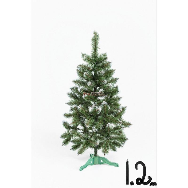 """Искусственная елка """"Лидия"""" с белыми кончиками 1.2м"""