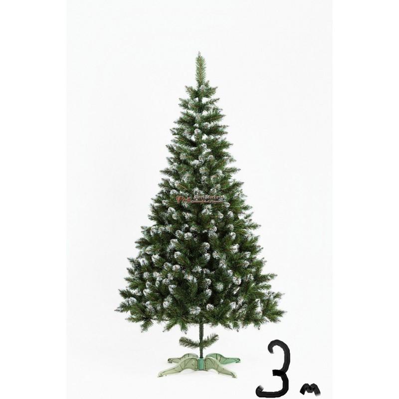 """Искусственная елка """"Лидия"""" с белыми кончиками 3м"""