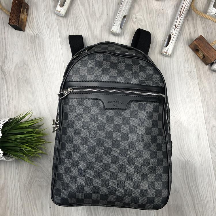 Молодіжний чоловічий рюкзак Louis Vuitton сірий Преміум Якість портфель Луї Віттон Трендовий репліка