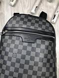 Молодіжний чоловічий рюкзак Louis Vuitton сірий Преміум Якість портфель Луї Віттон Трендовий репліка, фото 2