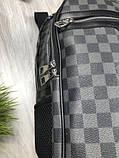 Молодіжний чоловічий рюкзак Louis Vuitton сірий Преміум Якість портфель Луї Віттон Трендовий репліка, фото 3