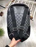 Молодіжний чоловічий рюкзак Louis Vuitton сірий Преміум Якість портфель Луї Віттон Трендовий репліка, фото 5