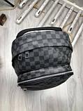 Молодіжний чоловічий рюкзак Louis Vuitton сірий Преміум Якість портфель Луї Віттон Трендовий репліка, фото 8