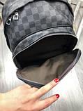 Молодіжний чоловічий рюкзак Louis Vuitton сірий Преміум Якість портфель Луї Віттон Трендовий репліка, фото 6