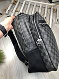 Молодіжний чоловічий рюкзак Louis Vuitton сірий Преміум Якість портфель Луї Віттон Трендовий репліка, фото 9