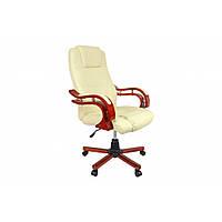 Офисное кресло с массажем Крісло керівника бежевий колір