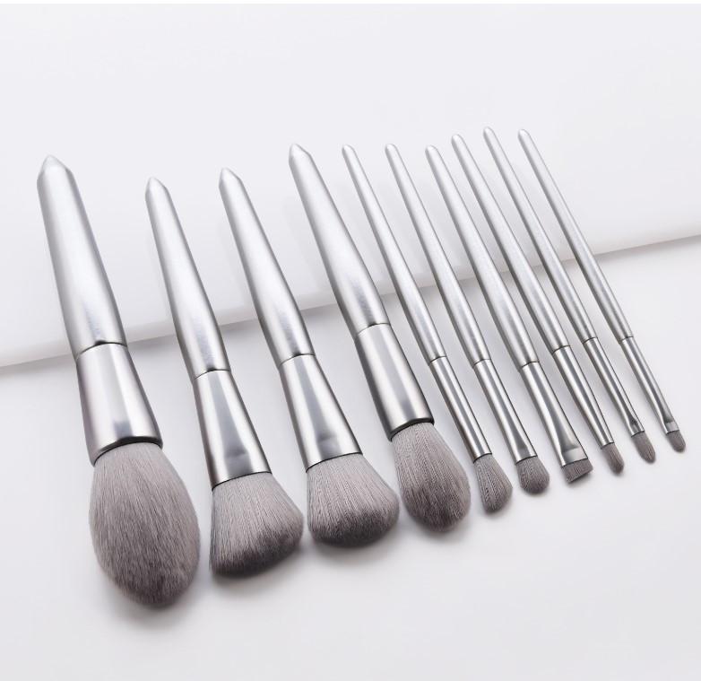 Набор кистей для макияжа 10шт Elegant silver
