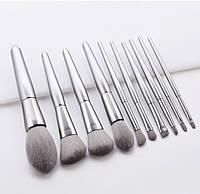 Набор кистей для макияжа 10шт Elegant silver, фото 1