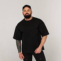 Футболка мужская черная оверсайз бренд ТУР модель Горо (Goro)