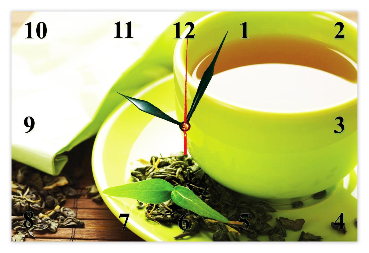 """Настінні годинники """"Чашка зеленого чаю"""""""