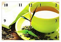 """Настенные часы """"Чашка зеленого чая"""", фото 1"""