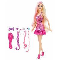 Barbie Барби с набором гламурные прически Hairtastic Glam Hair Barbie Doll, фото 1