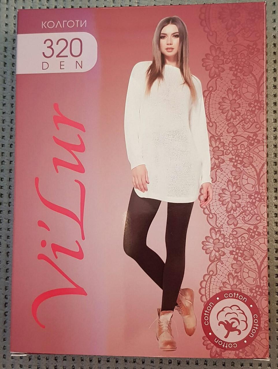 Колготки теплые женские Vi'lur Cotton 320 ден