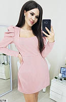 Комбинезон женский с шортами стильный трикотаж с люрексом 42-44,44-46 размеров,цвет пудра