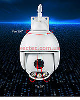Уличная (наружная) камера Wanscam K54 IR + LED IP Wifi роботизированная металл корпус