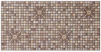 Панель ПВХ Регул Мозаїка Медальйон коричневий 955х488 мм