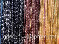 """Шторы - Нити - Разноцветные с серебром  """"Дождь""""   120203"""