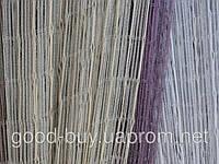 Тюль - Нити - Разноцветные с серебром -1-1
