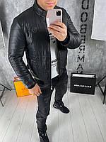 Мужская кожаная куртка Philipp Plein pilot