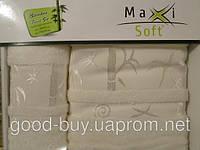 Комплект полотенец Maxi Soft бамбук - лицо + баня  Турция -1, фото 1