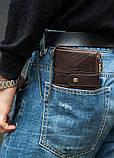 Мужской кошелек из натуральной кожи. Кожаный кошелек мужской портмоне из кожи Синий, фото 8