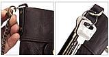 Мужской кошелек из натуральной кожи. Кожаный кошелек мужской портмоне из кожи Синий, фото 10
