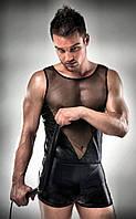 Мужской костюм Passion 016 SET XXL XXXL Черный PSM0163, КОД: 956391