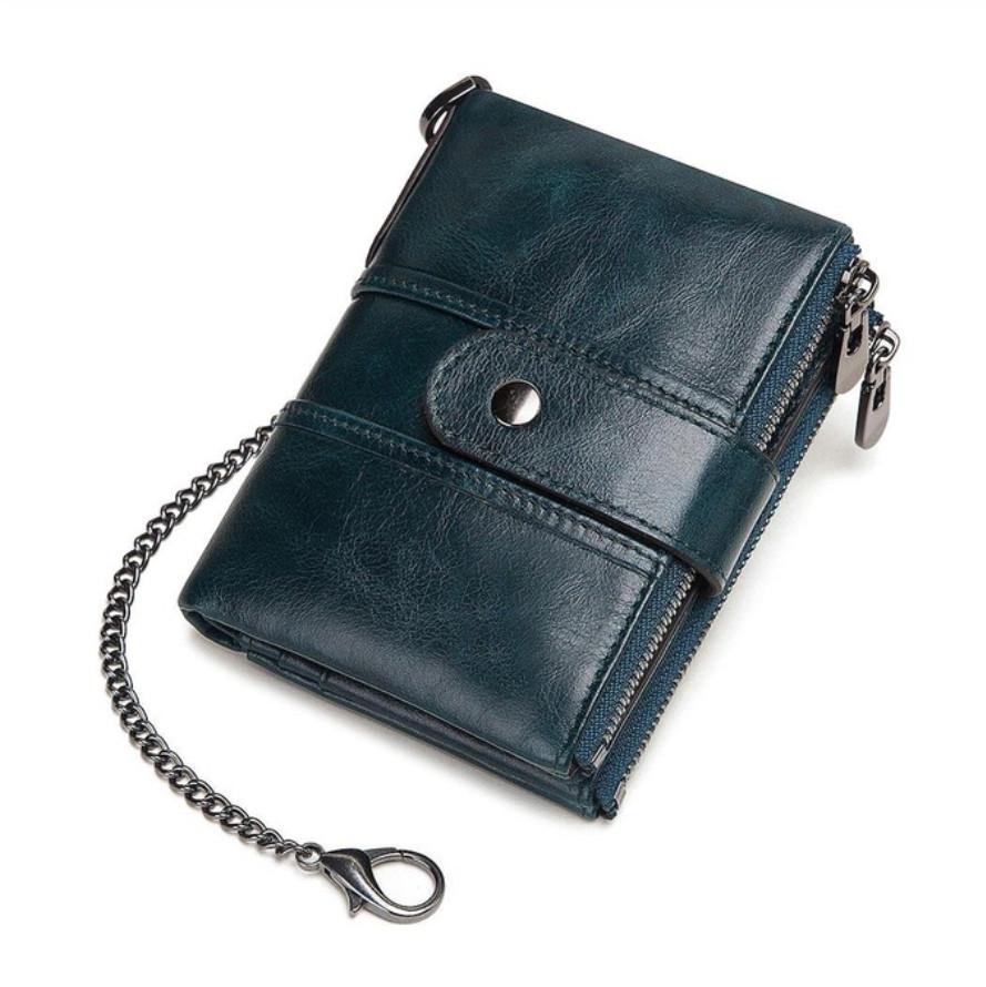 Мужской кошелек из натуральной кожи. Кожаный кошелек мужской портмоне из кожи Синий