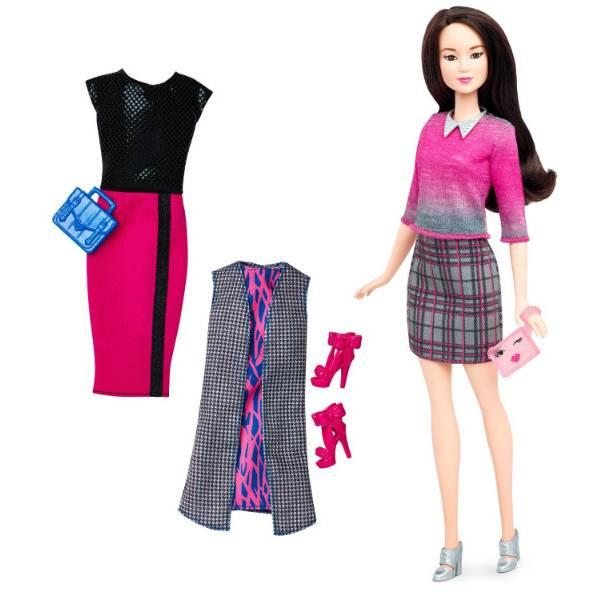 Barbie Барби модницa Азиатка  Fashionistas Doll & Fashions Chic With A Wink